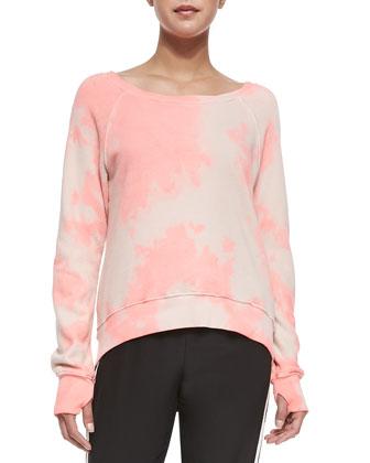 Annie Tie-Dye Sweatshirt, Watermelon