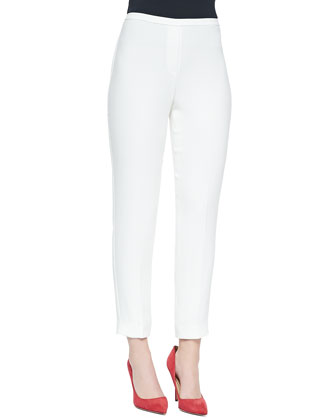 Marcia Straight-Leg Pants, White