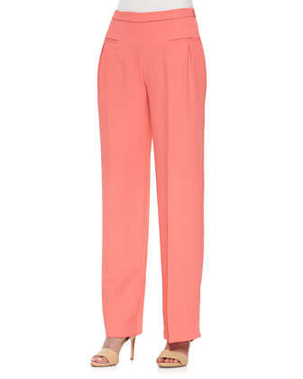 Ida Wide-Leg Pants W/ Welt Pockets