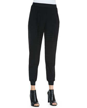 Presley Crepe Pants, Black