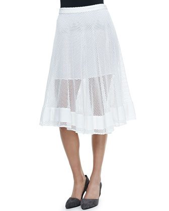 Pipa Mesh Midi A-Line Skirt