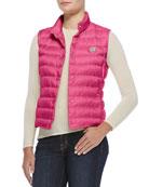 Liane Puffer Vest, Fuchsia