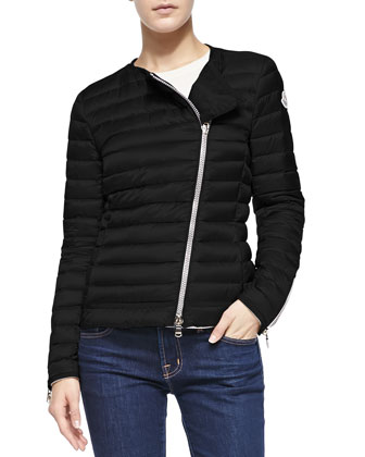 Amey Asymmetric Zip Puffer Jacket