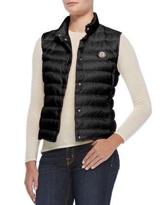 Liane Puffer Vest, Black