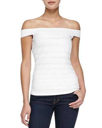Gangway Banded Off-the-Shoulder Top
