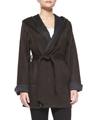 Reversible Wool Belted Coat