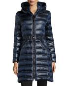 Karen Chevron Puffer Coat, Abyss
