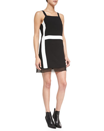 Arden Strapped Colorblock Mini Dress