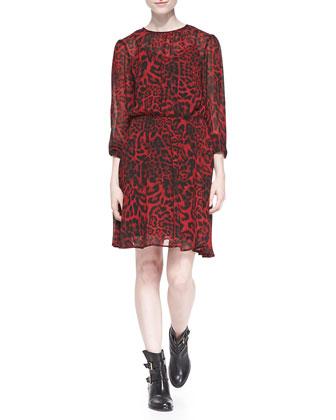Fremont Smoked Animal-Print Dress