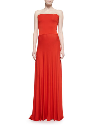 Bangal Strapless Fitted Maxi Dress