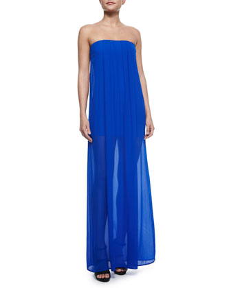 Elenor Strapless Sheer Maxi Dress