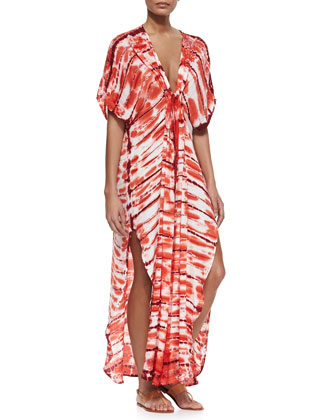 Shorebreak Wash Caftan with V Neckline