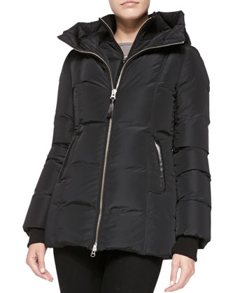 Janie Puffer Jacket with Hood