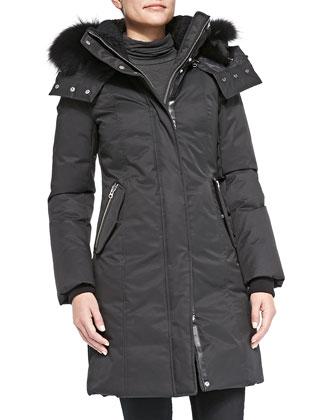 Kerry Fur-Collar Puffer Jacket