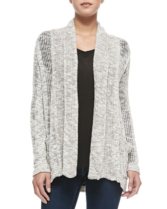 Seaside Long Loose-Knit Cardigan