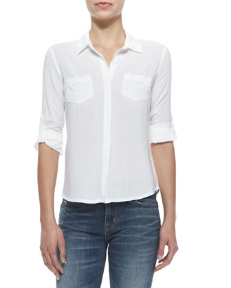 Long-Sleeve Two-Pocket Top