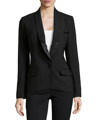 Perfect Tailored Tuxedo Blazer