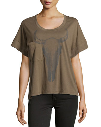 Bulls Head Short-Sleeve Tee, Military
