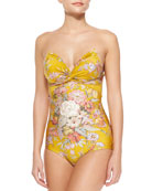 Confetti Floral-Print One-Piece Swimsuit