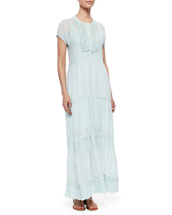 Flowing Trim Maxi Dress