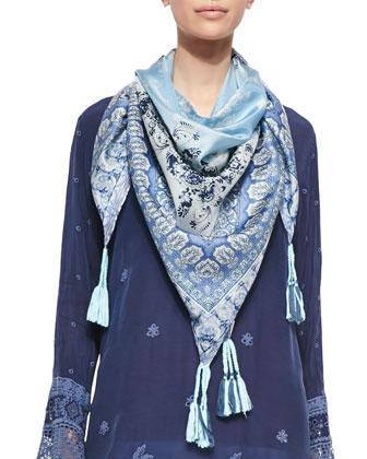 Kobi Long Printed Tunic & Pepin Printed Silk Scarf