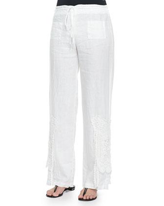 JWLA for Johnny Was Mariko 3/4-Sleeve Embroidered Sweatshirt & Linen ...