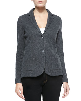 Two-Button Cotton-Blend Blazer