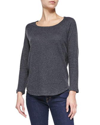 Raglan-Sleeve Jersey Top