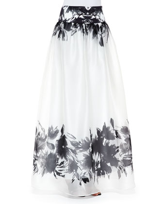 Mirage Border-Print Maxi Skirt