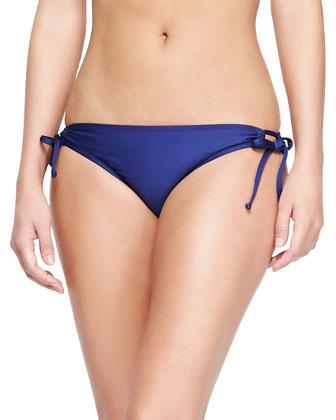 Two-Tone Sporty Swim Top & Tie-Waist Swim Bottom