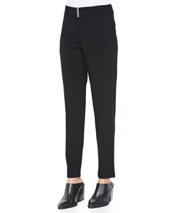 Tapered Cropped Suit Pants