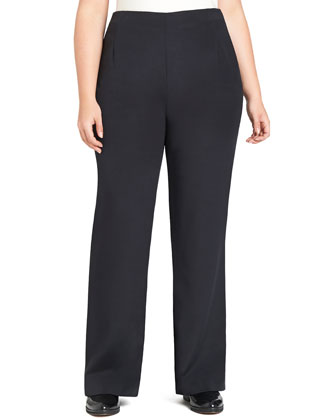 Studio Silk Stretch Pants, Black, Women's