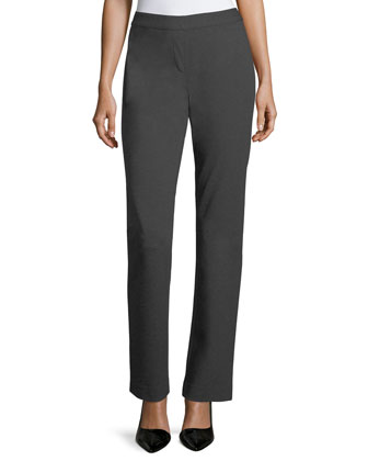 Punto Milano Straight-Leg Pants, Black, Women's