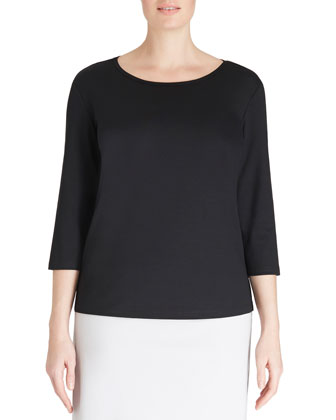 3/4-Sleeve Jersey Top