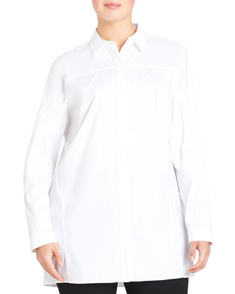 Joey Stretch Cotton Blouse, White