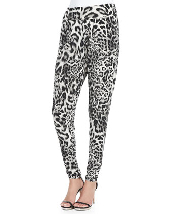 Freemont Animal-Print Crossover Pants