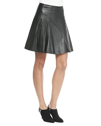 Sheepskin Leather Circle Skirt