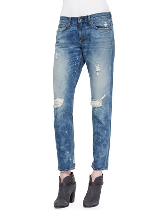 Distressed Denim Boyfriend Jeans, Beacon