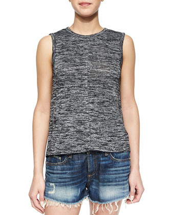 Nicole Space-Dye Knit Tank