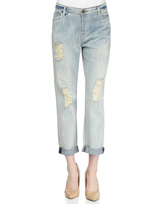 Leigh Distressed Boyfriend Jeans, Weekend Warrior