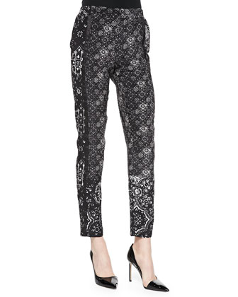 Cristallo Printed Silk Pants