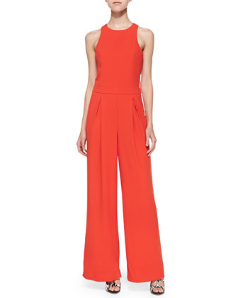 Halter Jumpsuit with Pockets