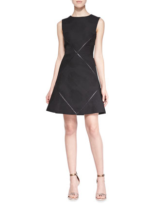 Marcelle Flounce Dress W/ Crisscross Detail