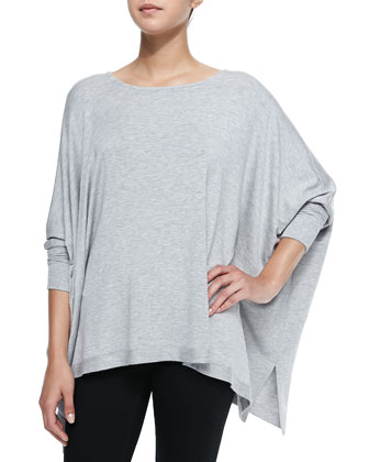 Sheer-Back Oversize Slub Tee