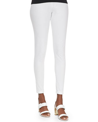Jersey Skinny Pants, White