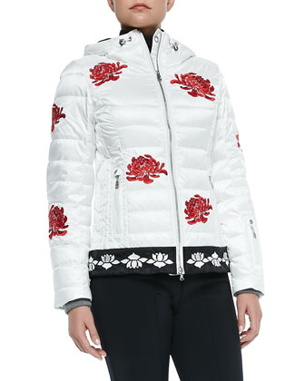 Laya Floral Embroidered Puffer Jacket