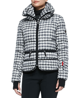 Inka Houndstooth Puffer Ski Jacket