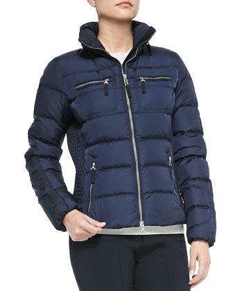 Leony Puffer Jacket, Navy