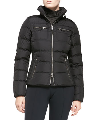 Leony Puffer Jacket, Black