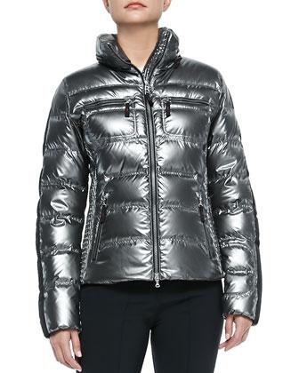 Leony Short Puffer Jacket, Titan